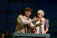 "Riley Alward as Dickon and Cyndal VanSteensburg as Mary during Gilford High School's dress rehearsal for their upcoming musical ""The Secret Garden"".  (Karen Bobotas/for the Laconia Daily Sun)"