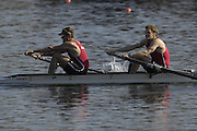 Hazenwinkel, BELGIUM,  Men's Pair, [ M2-],  Bow: Robin BOURNE-TAYLOR and Alastair HEATHCOTE, in the last stroke of the morning time trial, at the GB Rowing Senior Trials, on Sun,15.04.2007  [Credit, Peter Spurrier/Intersport-images]   [Mandatory Credit, Peter Spurier/ Intersport Images]. , Rowing Course, Bloso, Hazewinkel. BELGUIM