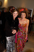 Emma Samms  and Trisha Potter, Bright Young Things Royal European charity premiere in Leicester Sq. and party afterwards at  Claridges, 28 September 2003. © Copyright Photograph by Dafydd Jones 66 Stockwell Park Rd. London SW9 0DA Tel 020 7733 0108 www.dafjones.com