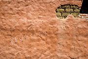 Revclution, the writing on the wall, Street scene, San Cristobal de las Casas, Chiapas, Mexico.