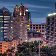 Downtown Kanas City MO Skyline in August 2011 from Berkley Riverfront Park.