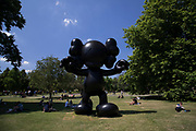 Frieze Sculpture 2017 opens to the public on July 5th 2017 in the English Gardens in Regents Park, London, England, United Kingdom. This is London's largest showcase of major outdoor works by leading artists and galleries, presenting a free outdoor exhibition for London and its international visitors throughout the summer months. KAWS,<br /> FINAL DAYS 2013.