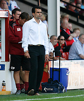 Photo: Steve Bond.<br />Walsall v Swansea City. Coca Cola League 1. 25/08/2007. Roberto Martinez watches