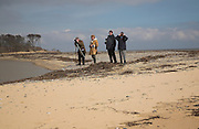 Birdwatchers, Benacre Broad, national nature reserve, Suffolk, England