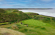 The 10th green and 11th fairway background at Ballybunion Golf Club in County Kerry, Ireland.<br /> Picture by Don MacMonagle -macmonagle.com