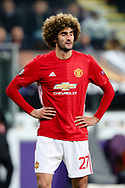 Manchester United's Marouane Fellaini during the Europa League Quarter Final 1st leg match at RSCA Constant Vanden Stock Stadium, Anderlecht, Belgium. Picture date: April 13th, 2017.Pic credit should read: Charlie Forgham-Bailey/Sportimage