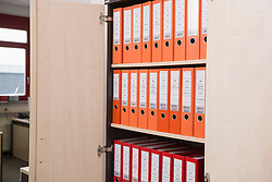 Files in filing cabinet, Munich, Bavaria, Germany
