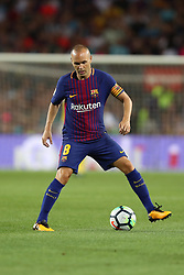 August 7, 2017 - Barcelona, Spain - Andres Iniesta of FC Barcelona during the 2017 Joan Gamper Trophy football match between FC Barcelona and Chapecoense on August 7, 2017 at Camp Nou stadium in Barcelona, Spain. (Credit Image: © Manuel Blondeau via ZUMA Wire)