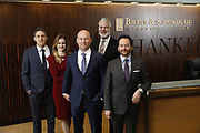 SHOT 1/8/19 12:13:07 PM - Bachus & Schanker LLC lawyers James Olsen, Maaren Johnson, J. Kyle Bachus, Darin Schanker and Andrew Quisenberry in their downtown Denver, Co. offices. The law firm specializes in car accidents, personal injury cases, consumer rights, class action suits and much more. (Photo by Marc Piscotty / © 2018)