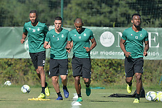 Training of the new recruits of AS Saint-Etienne - Ligue 1 - 10 Aug 2017