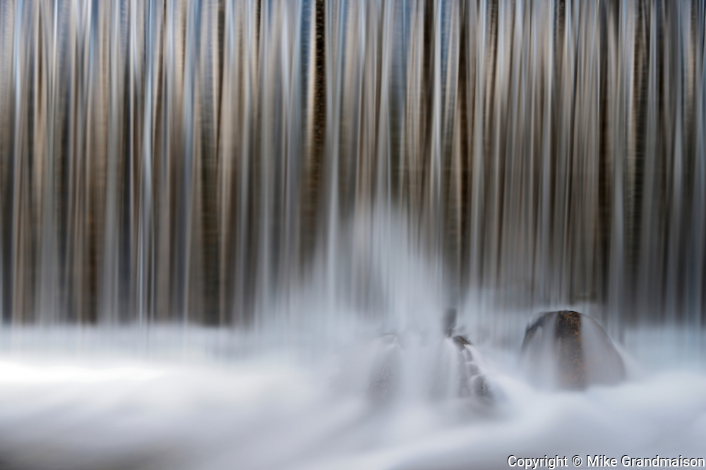 Water flowing off a wier on Dryberry Creek<br /> Near Sioux Narrows<br /> Ontario<br /> Canada