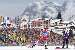 February 21, 2019 - Seefeld In Tirol, AUSTRIA - 190221 Johannes Høsflot Klæbo of Norway competes in men's cross-country skiing sprint qualification during the FIS Nordic World Ski Championships on February 21, 2019 in Seefeld in Tirol..Photo: Joel Marklund / BILDBYRÃ…N / kod JM / 87880 (Credit Image: © Joel Marklund/Bildbyran via ZUMA Press)