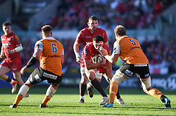 Scarlets Tom Price<br /> <br /> Photographer Mike Jones/Replay Images<br /> <br /> Guinness PRO14 Round 22 - Scarlets v Cheetahs - Saturday 5th May 2018 - Parc Y Scarlets - Llanelli<br /> <br /> World Copyright © Replay Images . All rights reserved. info@replayimages.co.uk - http://replayimages.co.uk