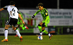 Odin Bailey of Forest Green Rovers tries to get past Luke Joyce of Port Vale- Mandatory by-line: Nizaam Jones/JMP - 16/01/2021 - FOOTBALL - innocent New Lawn Stadium - Nailsworth, England - Forest Green Rovers v Port Vale - Sky Bet League Two