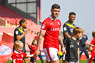 Alex Mowatt of Barnsley (27) walks out onto the pitch during the EFL Sky Bet League 1 match between Barnsley and Shrewsbury Town at Oakwell, Barnsley, England on 19 April 2019.