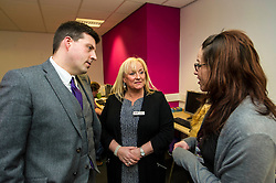 Pictured: Jamie Hepburn, Liz Roberts and Alison Johnston<br /> <br /> Today, Minister for employability and training, Jamie Hepburn MSP visited Remploy in Edinburgh where he announced new employment services funding. Mr Hepburn gave details on cash which will develop new ways of supporting the Scottish Government's new devolved employment services. <br /> <br /> Ger Harley | EEm 21 December 2016