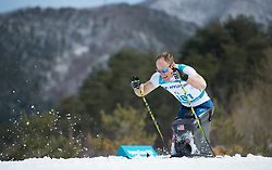 March 17, 2018 - Pyeongchang, South Korea - Dan Cnossen of the US on the final lap of his silver medal winning performance in the Cross Country 7.5km sitting event Saturday, March 17, 2018 at the Alpensia Biathlon Center at the Pyeongchang Winter Paralympic Games. Photo by Mark Reis (Credit Image: © Mark Reis via ZUMA Wire)