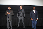 l to r: F.Gary Gray, Gerad Butler and Stacy Spikes at The 13th Annual UrbanWorld Film Festival Premiere of ' Law Abiding Citizen'  held at AMC 34th Street on September 23, 2009 in New York City