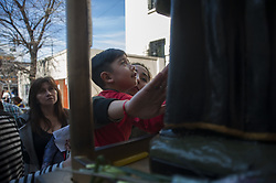 August 7, 2017 - Buenos Aires, Argentina - Known as the patron saint of the unemployed, thousands of Catholics visit the church on the Italian saint's feast day to pray for prosperity and employment. (Credit Image: © Gabriel Sotelo/NurPhoto via ZUMA Press)