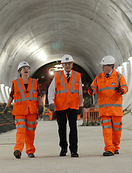 File photo dated 04/11/15 of the Duke of Edinburgh being shown a tunnel in the new Crossrail station taking shape 30 metres below Farringdon in London by Crossrail Chief Executive Andrew Wolstenholme (right) and Project Manager Linda Miller, who has been awarded an OBE in the Queen's Birthday Honours List.