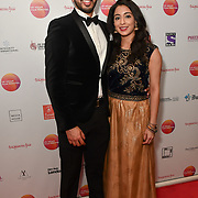 Rishi Nair is an actor attends the UK Asian Film Festival closing flame awards gala - Red Carpet at BAFTA 195 Piccadilly, on 7 April 2019, London, UK