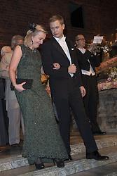 Jet Bussemaker, Gustav Fridolin <br /> <br />  <br /> <br />  beim Nobelbankett 2016 im Rathaus in Stockholm / 101216 <br /> <br /> <br /> <br /> ***The Nobel banquet, Stockholm City Hall, December 10th, 2016***
