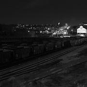 US Steel at night, Braddock, PA