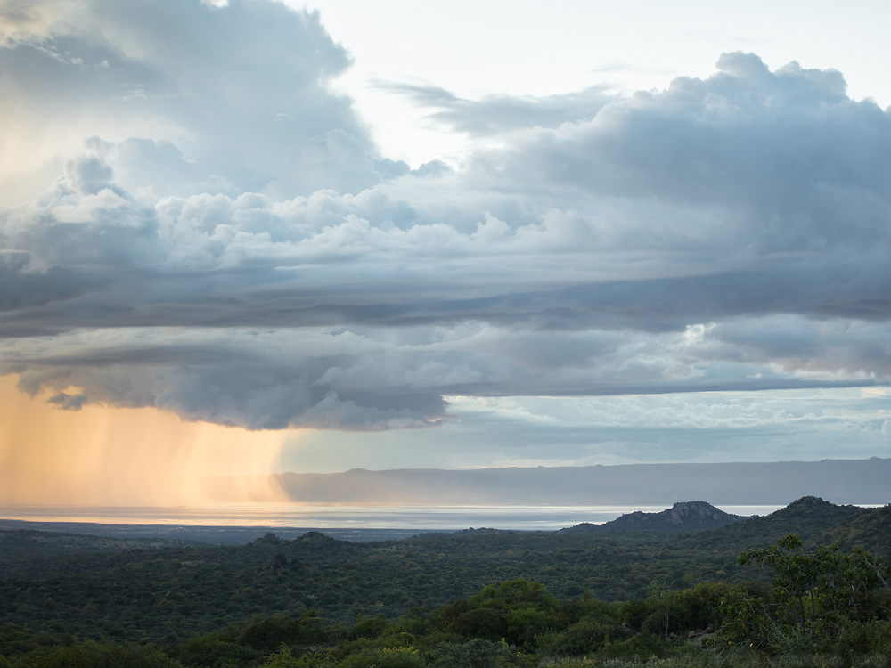 View towards Eyasi lake. Hunting in the Gideru mountains with Kaunda and January, two Hadza hunters.