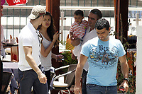 20110524: FUNCHAL, MADEIRA ISLAND, PORTUGAL - Portuguese football star Cristiano Ronaldo hangs out with his family and girlfriend Irina Shayk in Funchal, Madeira. Also Pictured: Cristiano Ronaldo Jr (Ronaldo's son), Andrade (Ronaldo's father-in-law)), Hugo Aveiro (Ronaldo's brother). PHOTO: CITYFILES