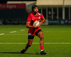 Elliott Obatoyinbo of Saracens  - Mandatory by-line: Nick Browning/JMP - 26/02/2021 - RUGBY - Butts Park Arena - Coventry, England - Coventry Rugby v Saracens - Friendly