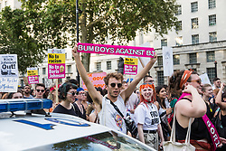 London, UK. 24 July, 2019. Thousands of people, mainly young and from antifascist, antiracist and/or LGBT+ groups, protest in Westminster against Boris Johnson's appointment as Prime Minister following his election as leader of the Conservative Party by its members. The protest was named after a lyric in a song by rapper Stormzy recently sung by thousands of festival goers at Glastonbury. Credit: Mark Kerrison/Alamy Live News