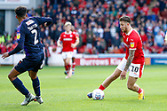 Barnsley midfielder George Moncur (10) in action  during the EFL Sky Bet League 1 match between Barnsley and Luton Town at Oakwell, Barnsley, England on 13 October 2018.
