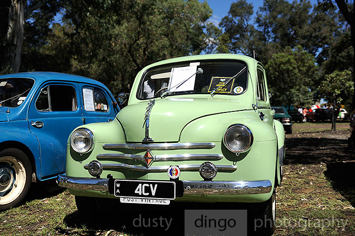 Vintage Renault 4CV. 2011 Classic Car Show, Whiteman Park, Perth, Western Australia. March 20, 2011