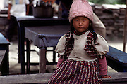 Nepali girl with pink hat