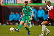 Watford midfielder Tom Cleverley (8) on the ball during the The FA Cup 3rd round match between Woking and Watford at the Kingfield Stadium, Woking, United Kingdom on 6 January 2019.