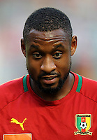 Football Fifa Brazil 2014 World Cup Matchs-Qualifier / Africa - Play-Off / <br /> Tunisia vs Cameroon 0-0  ( Olympic Stadium of Rades , Tunis-Rades , Tunisia ) <br /> Jean-Armel KANA-BIYIK of Cameroon , during the match between Tunisia and Cameroon
