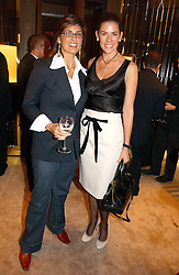 Left to right, sisters MICHELLE ESTRADA and CHRISTINA JUFFALI she was Christina Estrada at a party to ceebrate the bublication of 'The Ravenscar Dynasty' by Barbara Taylor Bradford hld at the newly opened Mousaieff Store, 172 New Bond Street, London on 28th September 2006.<br />