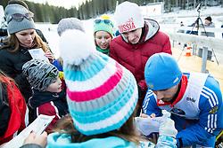 Winner SHIPULIN Anton (RUS) with his fans  after the Men 15 km Mass Start at day 4 of IBU Biathlon World Cup 2014/2015 Pokljuka, on December 21, 2014 in Rudno polje, Pokljuka, Slovenia. Photo by Vid Ponikvar / Sportida