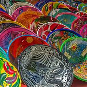 North America, Latin America, Latin, Caribbean, tropical, Mexico, Yucatan, Chichen Itza, Xchen Itza, Maya, Mayan, UNESCO World Heritage Site, <br /> Local wares for sale at historic Mayan Chichen Itza, Mexico.