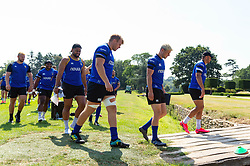 Bath Rugby players leave the field, Bath Rugby were allowed to start Stage Two of the Premiership Rugby return to play protocol - Mandatory byline: Patrick Khachfe/JMP - 07966 386802 - 11/08/2020 - RUGBY UNION - Farleigh House - Bath, England - Bath Rugby training