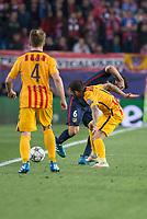 Atletico de Madrid's Koke and FC Barcelona Ivan Rakitic and Dani Alves during Champions League 2015/2016 Quarter-Finals 2nd leg match. April 13, 2016. (ALTERPHOTOS/BorjaB.Hojas)