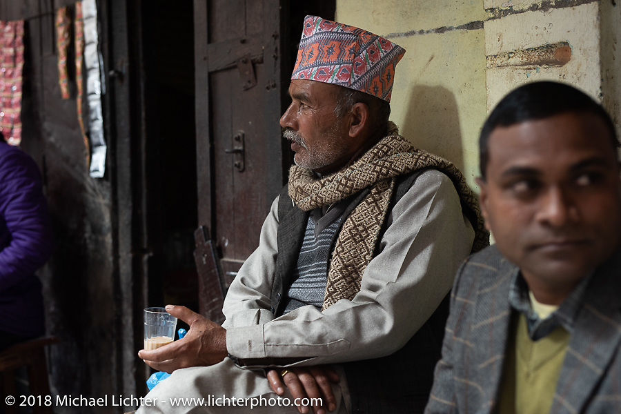 Back alley teahouse in Kathmandu after our Himalayan motorcycling adventure, Nepal. Friday, November 16, 2018. Photography ©2018 Michael Lichter.