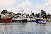 Israel, Haifa Bay, The Kishon Harbour, used by fishermen and yacht owners,