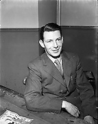 """05/01/1953<br /> 01/05/1953<br /> 05 January 1953<br /> Garda Dick Farrelly, song writer at College Street Garda Station, Dublin. Garda Farrelly wrote many well known songs two of which were """"The Isle of Innisfree""""  used in the film """"The Quiet Man"""" and """"We Dreamed our Dreams""""."""