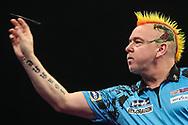 Peter Wright during the Grand Slam of Darts, at Aldersley Leisure Village, Wolverhampton, United Kingdom on 17 November 2019.