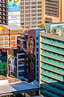 Nelson Mandela mural, Central Business District, Johannesburg, South Africa.