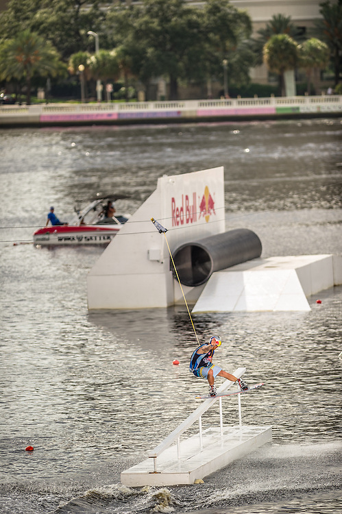 JD Webb competes in the park competition during the Red Bull Wake Open in Tampa, Florida, USA on 6 July 2013.