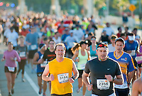 MIAMI, FL - JANUARY 30: Competitors running during the Miami Marathon. January 30, 2011 in Miami, Florida.