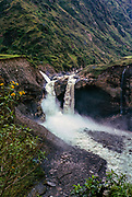 Agoyan Falls waterfall, Rio Pastaza river, Ecuador, South America tributary to  Marañón River  northwestern Amazon Basin