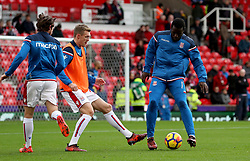 Stoke City's Darren Fletcher (second left) and Stoke City's Mame Biram Diouf during warm-up